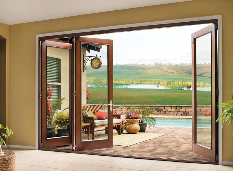 PVC Folding Door (Bi-Fold) | DIA HOME - Mediniai, PVC langai, Garažo ...