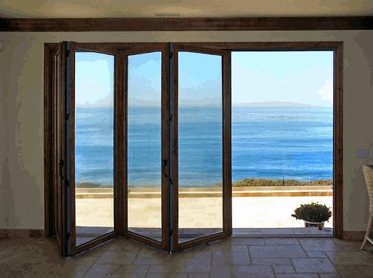 Wooden Folding Door (Bi-Fold) | DIA HOME - Mediniai PVC langai Garažo vartai Durys. & Wooden Folding Door (Bi-Fold) | DIA HOME - Mediniai PVC langai ... pezcame.com